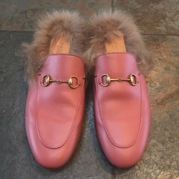 aa51295e615 Gucci Shoes - Gucci Princetown fur slipper. Size 41